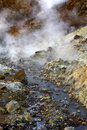 Steaming mud holes seltun iceland the alien landscape and rocky coloured mineral deposits of Stock Image