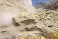 Steaming vents on white island in new zealand Royalty Free Stock Photos