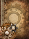 Steampunk background with ornaments Stock Image
