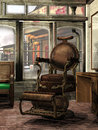 Steampunk barber's shop Royalty Free Stock Photography