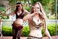 Steampunk Bellydancer Royalty Free Stock Images