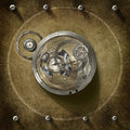 Steampunk centre conceptual art theme machine Royalty Free Stock Images