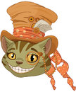Steampunk Cheshire cat in Top Hat