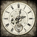 Steampunk clock Stock Image