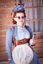 Steampunk entomologist Royalty Free Stock Photography