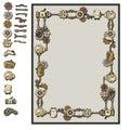 Steampunk frame details