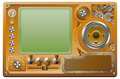 Steampunk grunge media player Royalty Free Stock Image