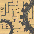 Steampunk pattern Royalty Free Stock Photo