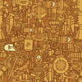 Steampunk seamless pattern Royalty Free Stock Image