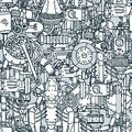 Steampunk  seamless  pattern Royalty Free Stock Photo