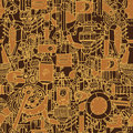 Steampunk seamless pattern art Royalty Free Stock Photography