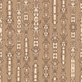 Steampunk seamless pattern art Stock Photos