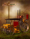 Steampunk vehicle Royalty Free Stock Image