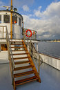 Steamship pilot house and deck Stock Photo