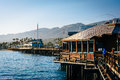 Stearn's Wharf, in Santa Barbara, California. Royalty Free Stock Photo