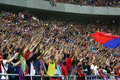 Steaua Bucharest Supporters Stock Image