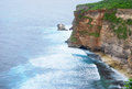 Steef cliff at uluwatu bali indonesia Royalty Free Stock Photography