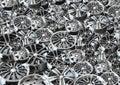 Steel alloy car rim Stock Images