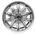Steel alloy car rim Royalty Free Stock Photography