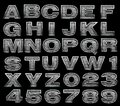 Steel alphabet set Stock Photo