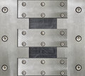 stock image of  Steel background with bolts