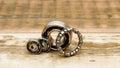 Steel ball bearings Royalty Free Stock Photo