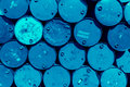 Steel barrel tank or oil fuel toxic chemical barrels Royalty Free Stock Photo