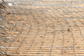 Steel bars construction materials construction site Stock Image