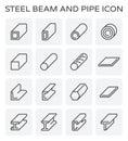 Steel beam pipe