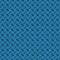 Steel Blue Checkerplate Metal Seamless Background Stock Images