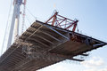 Steel bridge construction Royalty Free Stock Photo