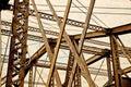 Steel Bridge Girders Over Charles River, Boston Royalty Free Stock Photo