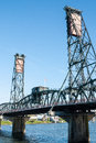 Steel Bridge, Portland, OR Royalty Free Stock Photo