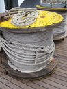 Steel cable in spool Stock Photography