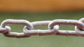 Steel chain close up Royalty Free Stock Photo