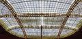 Steel construction of a glassed roof Royalty Free Stock Photo