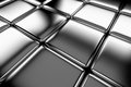 Steel cubes flooring diagonal view shiny abstract industrial background Stock Photography