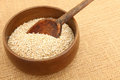 Steel cut oatmeal in bowl irish with spoon Royalty Free Stock Photography