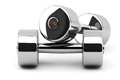 Steel Dumbbells Stock Photo