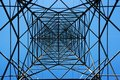 Steel electricity pylon Stock Photo