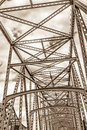 Steel engineered highway bridge structure Royalty Free Stock Photo