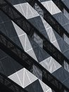Steel Facade Modern building Metal sheet grill pattern Architecture details Royalty Free Stock Photo