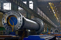 Steel factory Royalty Free Stock Images