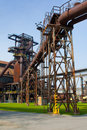 Steel factory old rusty in czech republic Royalty Free Stock Photo