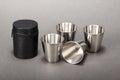 Steel folding cup