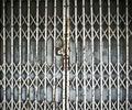 Steel folding door