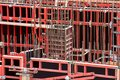 Steel Formwork. Shuttering for concrete construction Royalty Free Stock Photo