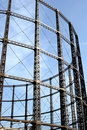 A steel frame of a Gas tower Royalty Free Stock Image