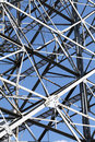 Steel framework against a clear blue sky Stock Images