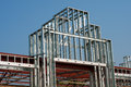 Steel Framework for a Store or Mall Entryway Stock Photo